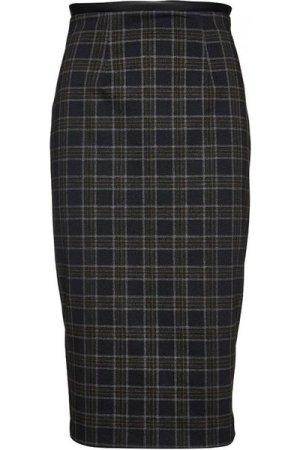 Conquista Check Punto di Roma Pencil Skirt