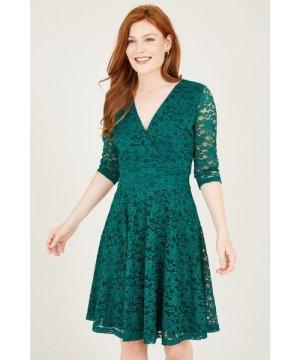 Mela London Yumi Delicate Lace Long Sleeve Dresss
