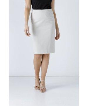 Conquista Cream Pencil Skirt by Fashion