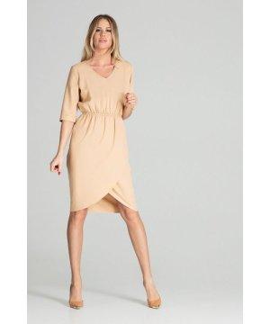 Figl Beige Spring Midi Dress