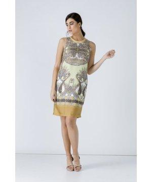 Conquista Paisley Sleeveless Dress