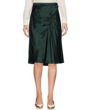 Moschino Cheap And Chic Dark Green Satin Skirt