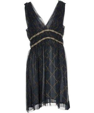 Isabel Marant Étoile Etoile Dark Blue Silk V Neckline Short Dress