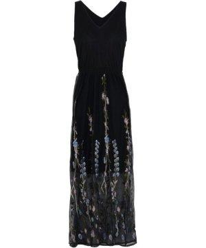 Twist & Tango Black Embroidered Dress