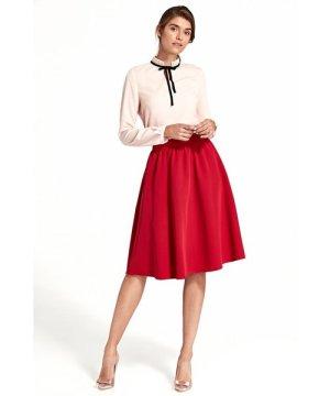Nife Flared knee-length skirt - red