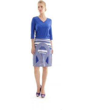 Conquista Printed A-Line Skirt