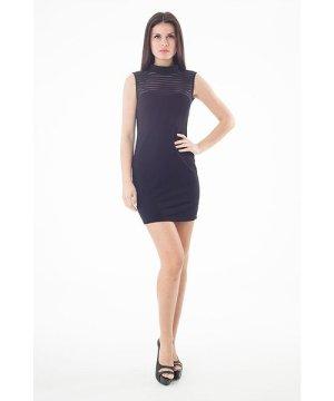 Conquista Sheer Detail Stretch Mini Dress