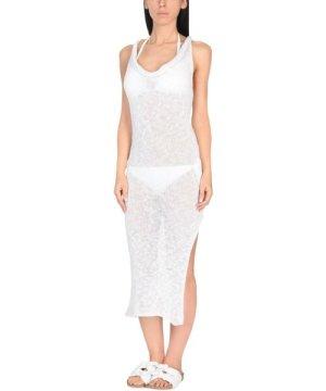 Marisa Padovan White Linen Knit Dress
