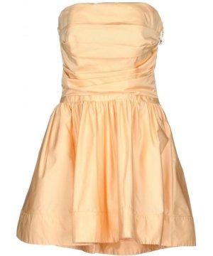 Elisabetta Franchi Apricot Taffeta Strapless Dress