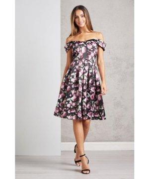 Mela London Off The Shoulder Rose Prom Dress