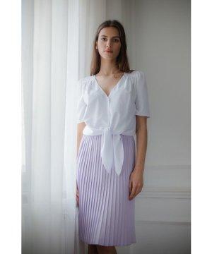 Lenitif Black Pleated Midi Skirt