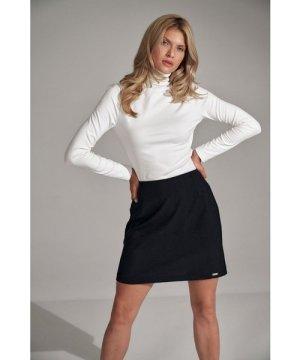 Figl Black A-line mini skirt