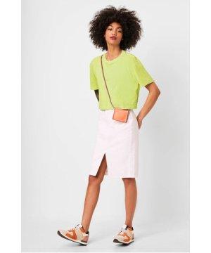Sahana Jersey Cropped T-Shirt - lime punch