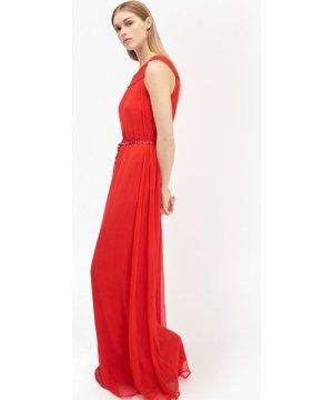 Amboselli Beaded Maxi Dress - masai red