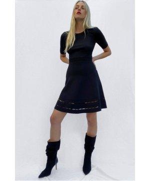 Lara Tobey Fit And Flare Dress - black