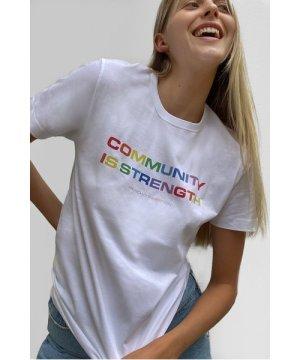 Community Is Strength T-shirt - white