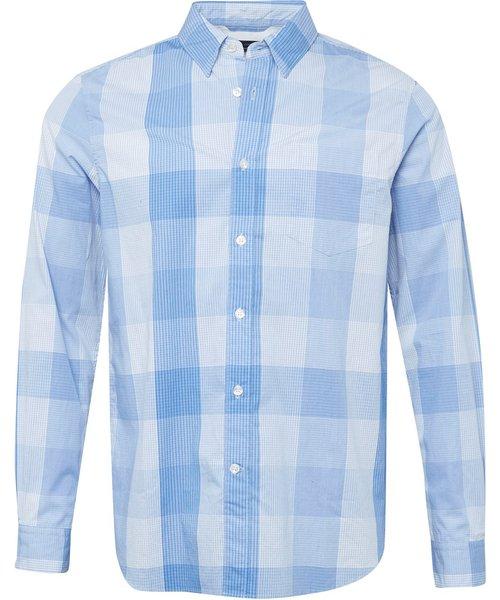 Contrast Pin Check Shirt - blue check