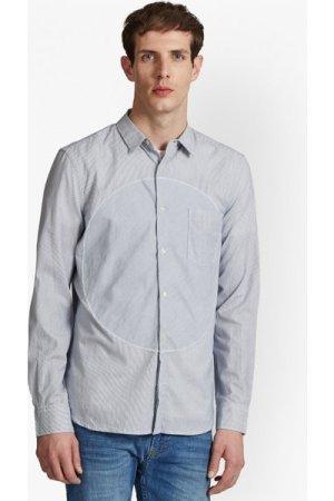 Spot Patch Stripe Shirt - marine blue/fine stripe