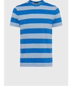 Jacquard Popcorn Stripe T-Shirt - bell blue/pale blue