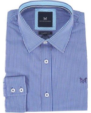 Crew Mens Classic Micro Stripe Shirt Ultramarine Medium