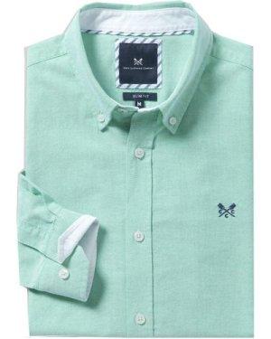 Crew Clothing Mens Slim Oxford Shirt Green Lake Small