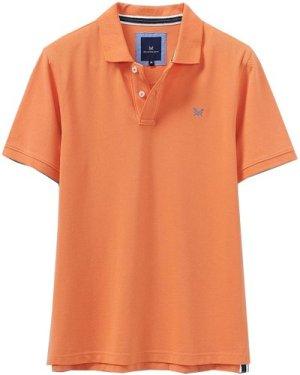 Crew Clothing Mens Classic Pique Polo Shirt Golden Coral Small