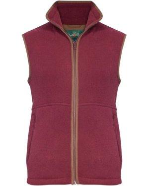Alan Paine Mens Aylsham Fleece Waistcoat Bordeaux XL