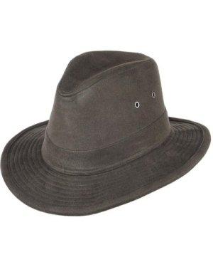 Heather Mens Fergus Moleskin Trilby Hat Olive Medium