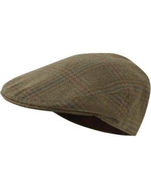 Schoffel Unisex Tweed Classic Cap Loden Green Herringbone Tweed 62cm (7 5/8)