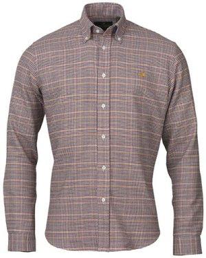 Laksen Mens Harris Shirt Pine/Gorse/Bordeaux/Navy XL