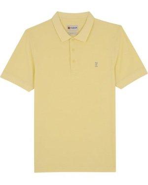 Farah Mens Cove 100 Polo Shirt Bleached Sun Small