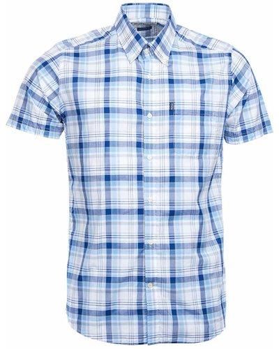 Barbour Mens Madras 3 Short Sleeve Shirt Yellow Small
