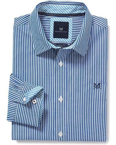 Crew Clothing Mens Classic Stripe Shirt Ultramarine Small