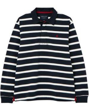 Joules Mens Onside Rugby Shirt Navy Stripe Medium