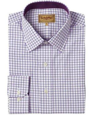 Schoffel Mens Cambridge Shirt Purple 17.5 Inch