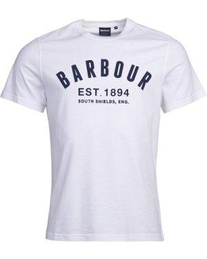 Barbour Mens Ridge Logo Tee White Large