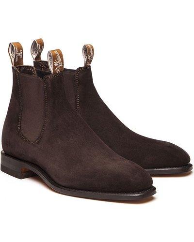 R.M. Williams Mens Suede Craftsman Boots Brown 8 (EU42)