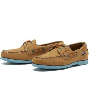 Chatham Womens Pippa II G2 Deck Shoes Tan/Turquoise 5 (EU38)