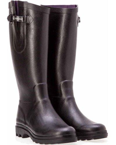 Aigle Womens Aiglentine Wellington Boots Black 8 (EU42)