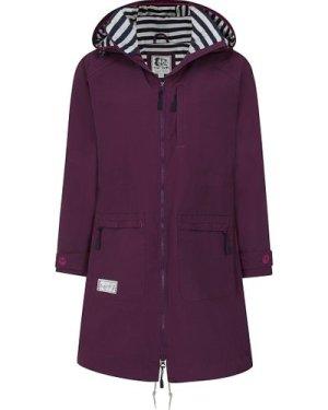 Lazy Jacks Womens LJ67 Long Line Raincoat Deep Purple XS