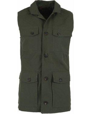 Purdey Men's Percival Safari Vest Olive Green XL