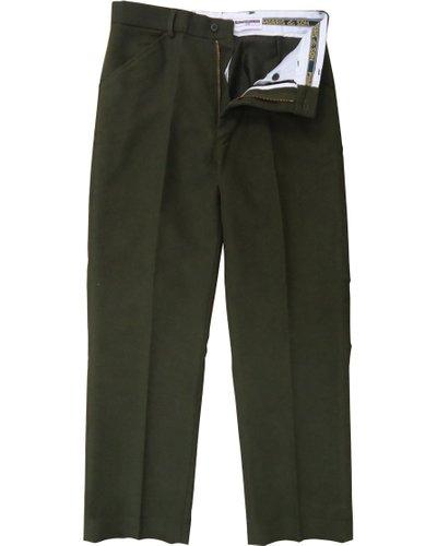Heritage 1845 Mens Moleskin Trousers Olive 34