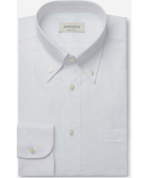 Shirt  solid  white 100% pure cotton poplin viroformula, collar style  button-down collar