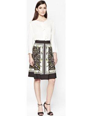 Window Box Pleated Skirt