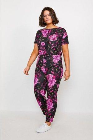 Karen Millen Curve Jersey Lounge Jogger -, Floral