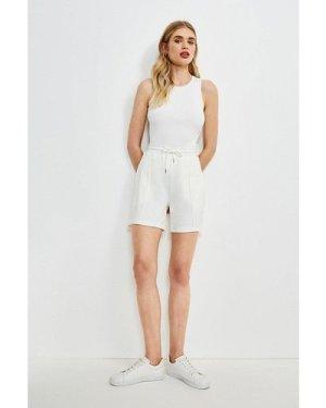 Karen Millen Smart Ponte Lounge Short -, Cream