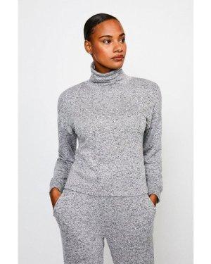 Karen Millen Diamante Super Soft Lounge Jersey Top -, Grey