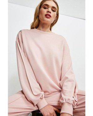 Karen Millen Smart Ponte Lounge Sweatshirt -, Navy