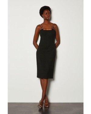 Karen Millen Forever Strap and Bar Dress -, Black