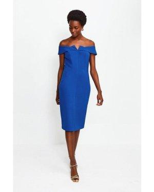 Karen Millen Forever Bardot Pencil Dress -, Blue